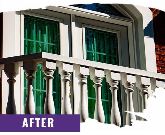 Exterior Balcony Closeup After Painting