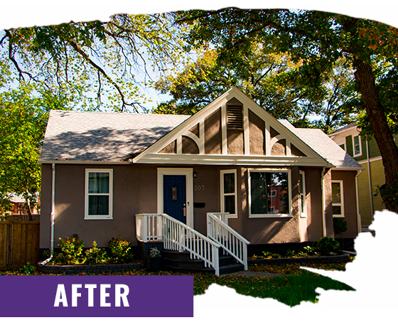 Tan Stucco Home After Exterior Painting