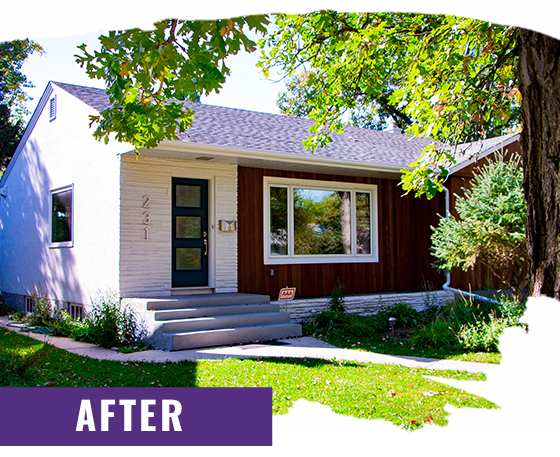 White Home After Painting Front